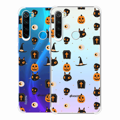 Spooky Collage Soft Flex Tpu Case For Redmi Note 8