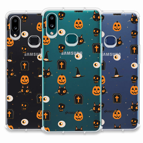 Spooky Collage Soft Flex Tpu Case For Samsung Galaxy A10s