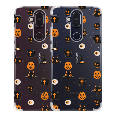 Spooky Collage Soft Flex Tpu Case For Nokia 8.1