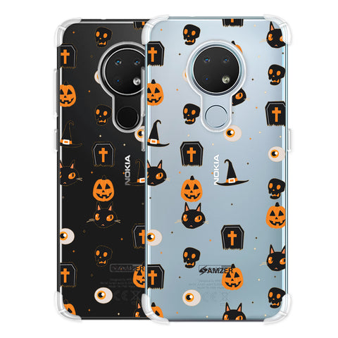 Spooky Collage Soft Flex Tpu Case For Nokia 6.2