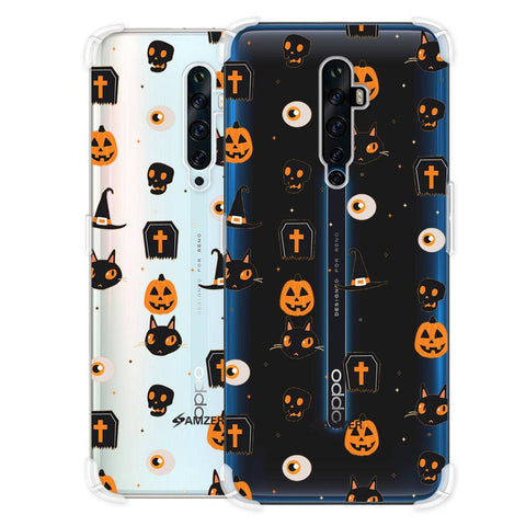 Spooky Collage Soft Flex Tpu Case For Oppo Reno2 Z
