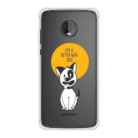 Life Is Better With A Dog Soft Flex Tpu Case For Motorola Moto Z4