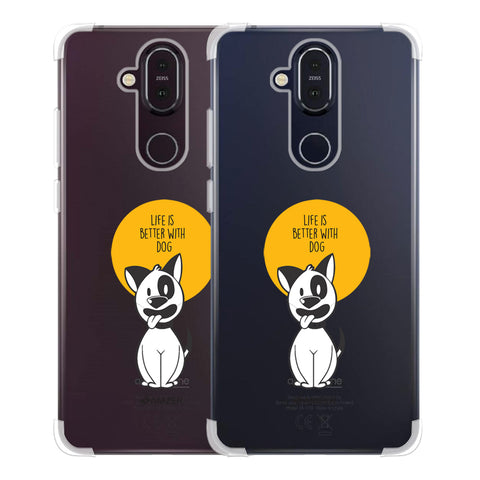 Life Is Better With A Dog Soft Flex Tpu Case For Nokia 8.1