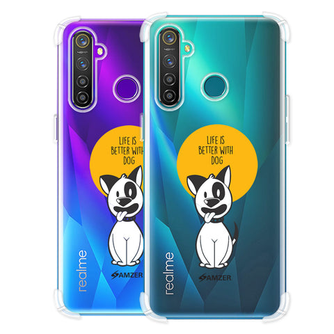 Life Is Better With A Dog Soft Flex Tpu Case For Realme Q