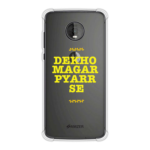 Dekho Magar Pyaar Se Soft Flex Tpu Case For Motorola Moto Z4