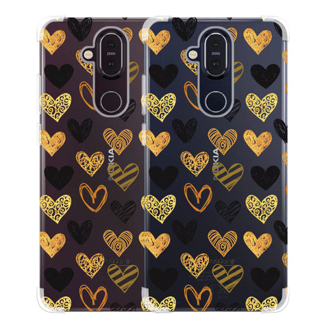 I Heart Hearts Soft Flex Tpu Case For Nokia 8.1
