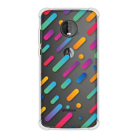 It's Raining Gradients! Soft Flex Tpu Case For Motorola Moto Z4