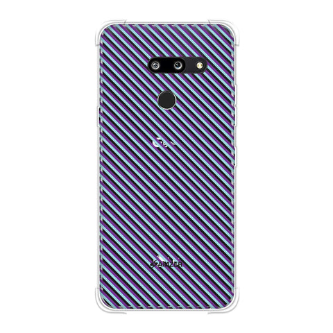 Checkered In Purple Soft Flex Tpu Case For LG G8 ThinQ