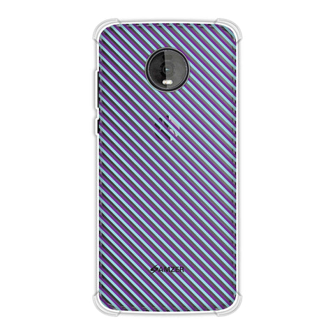 Checkered In Purple Soft Flex Tpu Case For Motorola Moto Z4