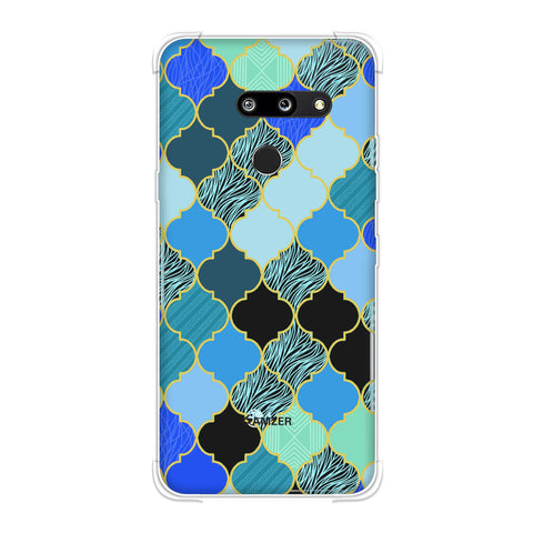 Stained glass- Carribean blue Soft Flex Tpu Case For LG G8 ThinQ