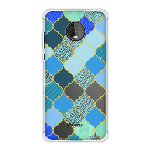 Stained glass- Carribean blue Soft Flex Tpu Case For Motorola Moto Z4