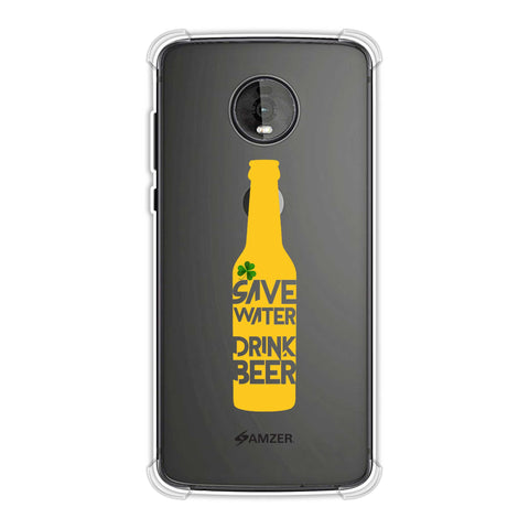 Save water drink beer - Black Soft Flex Tpu Case For Motorola Moto Z4