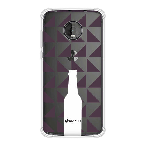 Beer and pattern - Saturated pink Soft Flex Tpu Case For Motorola Moto Z4