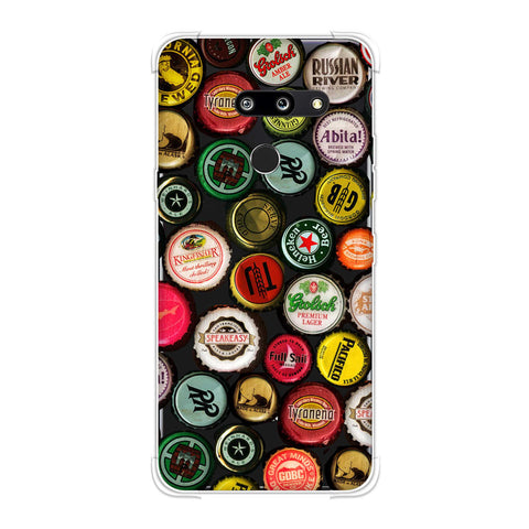 Beer Caps Yellow Soft Flex Tpu Case For LG G8 ThinQ