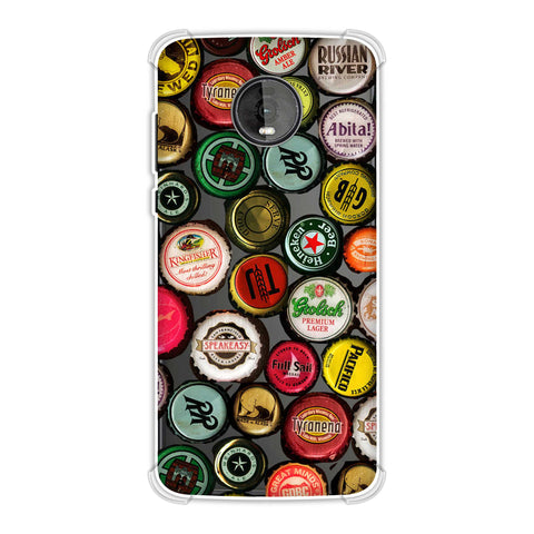 Beer Caps Yellow Soft Flex Tpu Case For Motorola Moto Z4
