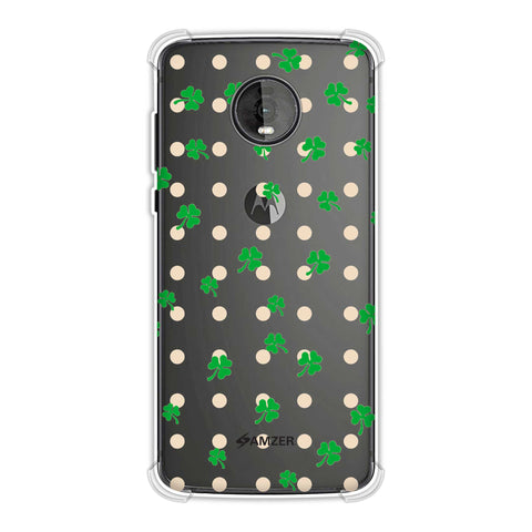 Shamrocks - Green Soft Flex Tpu Case For Motorola Moto Z4