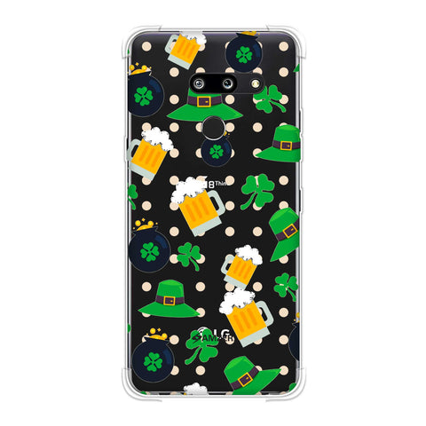 Shamrock, hats, beer and potluck - Green Soft Flex Tpu Case For LG G8 ThinQ