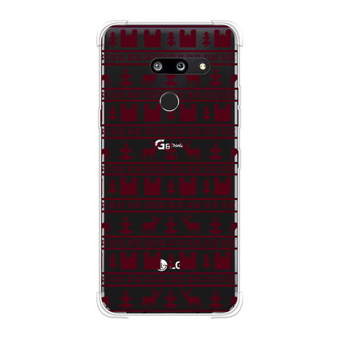 Reindeer repeats- Bulgarian rose Soft Flex Tpu Case For LG G8 ThinQ