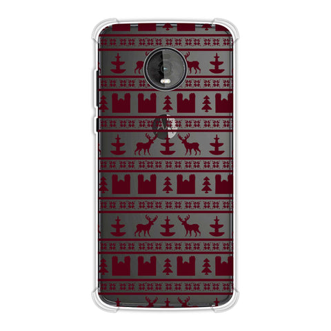 Reindeer repeats- Bulgarian rose Soft Flex Tpu Case For Motorola Moto Z4