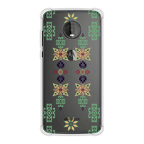 Tribal motif placement- Hot pink and bright teal Soft Flex Tpu Case For Motorola Moto Z4