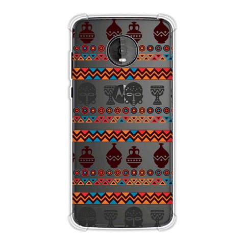 Masks and pottery- Pink and grey Soft Flex Tpu Case For Motorola Moto Z4
