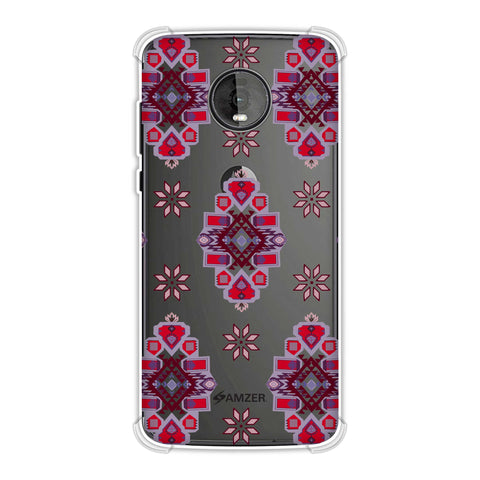 Tribal florals- Bright pink Soft Flex Tpu Case For Motorola Moto Z4