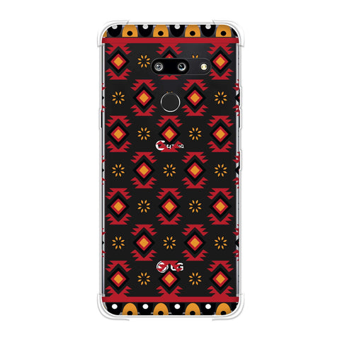 Cool tribals- Bright red and sunflower yellow Soft Flex Tpu Case For LG G8 ThinQ