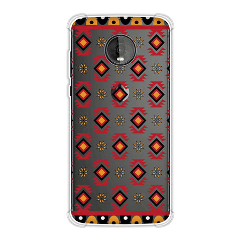 Cool tribals- Bright red and sunflower yellow Soft Flex Tpu Case For Motorola Moto Z4