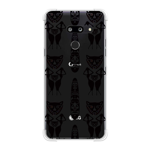 Tribal murals- Black and beige Soft Flex Tpu Case For LG G8 ThinQ