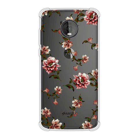 Dahlia - Olive and red Soft Flex Tpu Case For Motorola Moto Z4