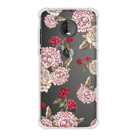 Dahlia and rose- Cream Soft Flex Tpu Case For Motorola Moto Z4