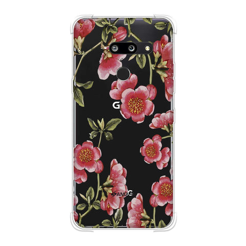 Watercolour anemone flower- Blush pink Soft Flex Tpu Case For LG G8 ThinQ
