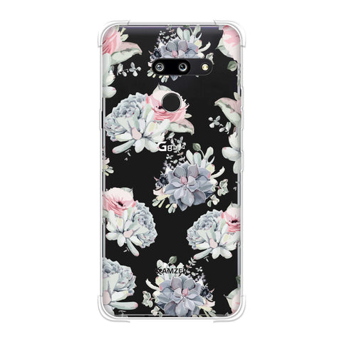 Watercolour flowers- Blue and pink Soft Flex Tpu Case For LG G8 ThinQ