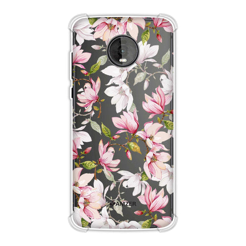 Flowers and buds- Baby pink Soft Flex Tpu Case For Motorola Moto Z4