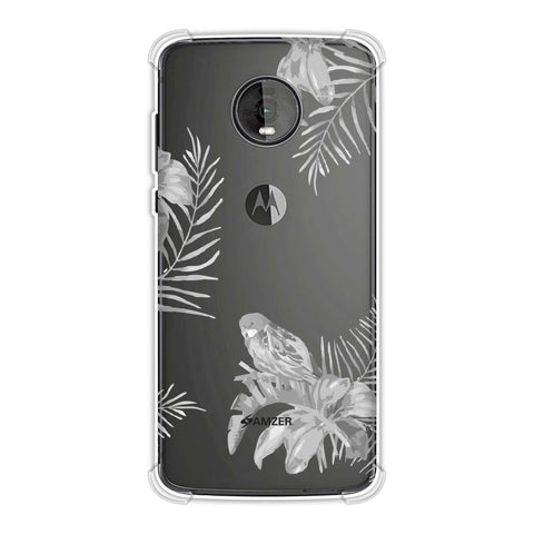 Elements of Tropical - Grey Soft Flex Tpu Case For Motorola Moto Z4