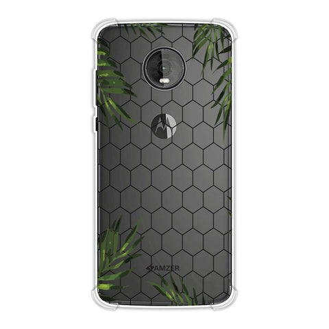 Ferns Over Honeycomb - Baby Pink Soft Flex Tpu Case For Motorola Moto Z4