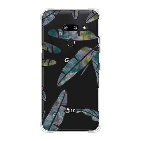 Lined Banana Leaves - Pale Green Soft Flex Tpu Case For LG G8 ThinQ