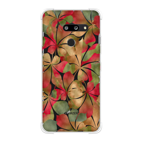Overlapped Leaves - Green and Red Soft Flex Tpu Case For LG G8 ThinQ