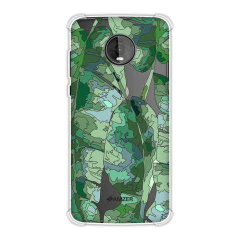 Tropically Pixelated - Teal Soft Flex Tpu Case For Motorola Moto Z4