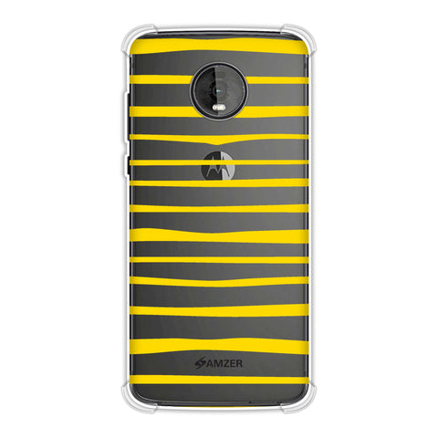 Bees - Art Stripes Soft Flex Tpu Case For Motorola Moto Z4