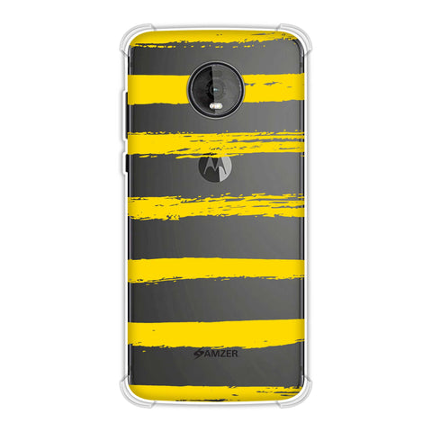 Bees - Brush Stripes Soft Flex Tpu Case For Motorola Moto Z4