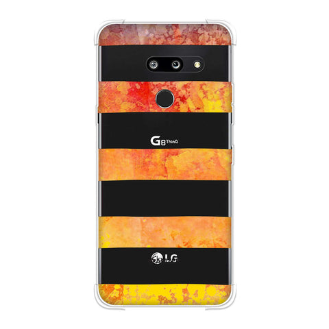 Bees - Fat Stripes - Blue And Red Bleach Soft Flex Tpu Case For LG G8 ThinQ