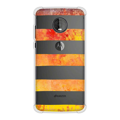 Bees - Fat Stripes - Blue And Red Bleach Soft Flex Tpu Case For Motorola Moto Z4