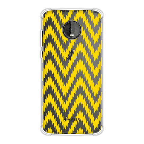 Bees - Zig Zag Chevron Soft Flex Tpu Case For Motorola Moto Z4