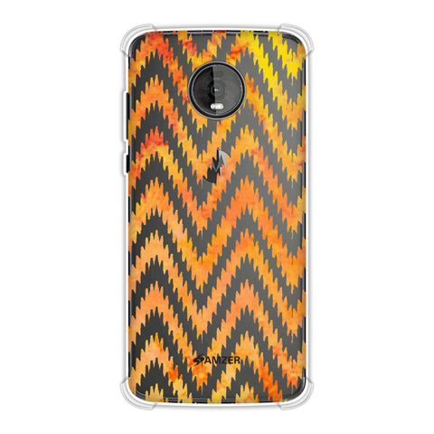 Bees - Zig Zag Chevron - Overlay - Fierce Red Soft Flex Tpu Case For Motorola Moto Z4