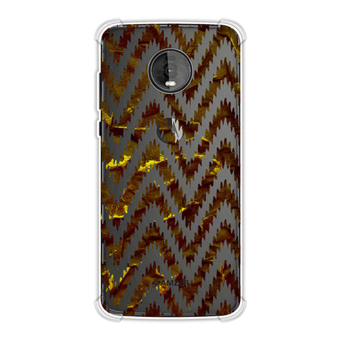 Bees - Crushed Paper - Burnt Ochre And Black Soft Flex Tpu Case For Motorola Moto Z4