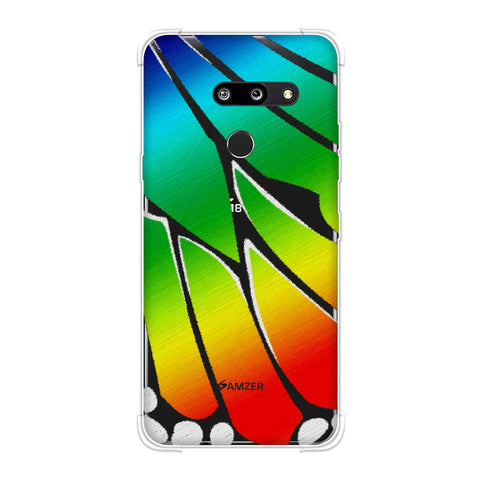 Butterfly - Rainbow Fibre Wing Soft Flex Tpu Case For LG G8 ThinQ