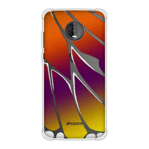 Butterfly - Purple And Orange Ombre Fibre Wing Soft Flex Tpu Case For Motorola Moto Z4