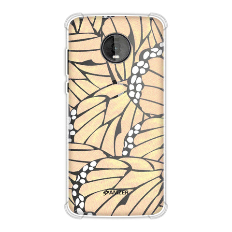 Butterfly - Pale Yellow And Blue Poster Fibre Wing Soft Flex Tpu Case For Motorola Moto Z4
