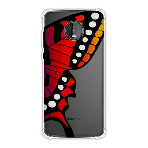 Butterfly - Fibre Wings Gradation -Red To Violet Soft Flex Tpu Case For Motorola Moto Z4